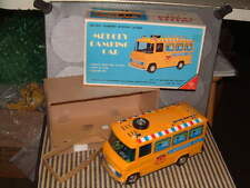 YONEZAWA PLASTIC & TIN BATTERY OPERATED MELODY CAMPING CAR. WORKING W/BOX YELLOW