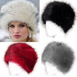 Details about New Fashion Ladies Women Glamorous Faux Fur Russian Cossack  Hat Winter Warm Cap 91ac684264b