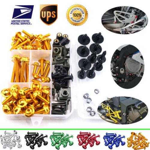 For Honda CBR600RR CBR900RR CBR1000RR CBR1100XX Full Fairing Bolt Kits CNC Clips