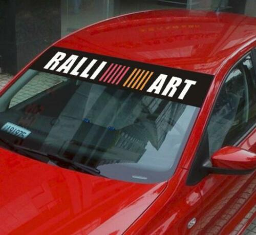 Reflective Front Windshield Banner Decal Car Sticker for Ralliart Racing Exterio
