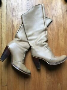 Vintage-Zodiac-Usa-Leather-Boots-Cats-Paw-Heel-Women-s-Size-7