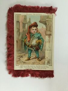 Antique-Shakespeare-Christmas-Card-Victorian-Silk-Fringe-4-Scenes-Signed-ML