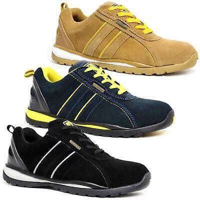Puntuale Sneakers Da Uomo Punta In Acciaio Ultra Leggero Scarpe Stivali In Pelle-mostra Il Titolo Originale