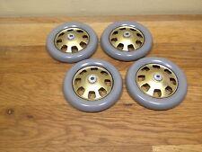 4 Roues en tôle pour voiture Bugatti T35 JEP  Diamètre 65mm