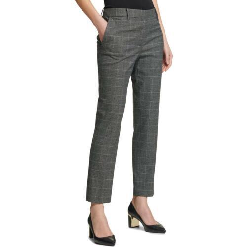 DKNY Womens Gray Glen Plaid Ankle Wear to Work Skinny Pants 18 BHFO 4496