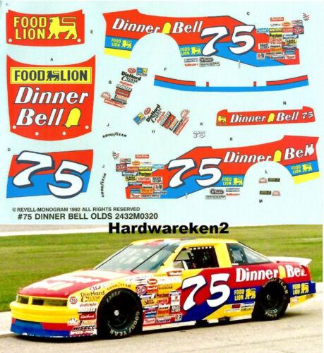 NASCAR DECAL #75 DINNER BELL 1991 OLDSMOBILE JOE RUTTMAN 1//24 Scale
