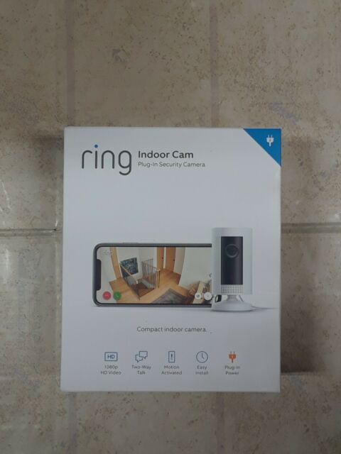 Ring Indoor Cam Plug-In HD Security Camera, Two-way talk,Works with Alexa, #7845