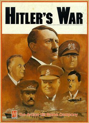 Avalon Hill Hitler/'s War Board Game PDF Reference CD Free UK P/&P
