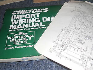 1986 MITSUBISHI STARION WIRING DIAGRAMS SCHEMATICS MANUAL SHEETS SET | eBayeBay
