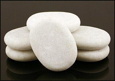 HOT STONE MASSAGE Set 6 Marble Cold Stones 7.5x5.5x1.5