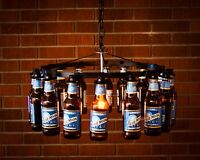 Beer Bottle Chandelier No Wiring Beer Rack Chain Light Lighting Beer Decor