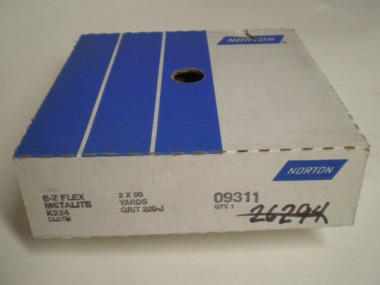 Norton 09311 E-Z Flex Metalite Roll 2  x 50Yards 220-J Grit