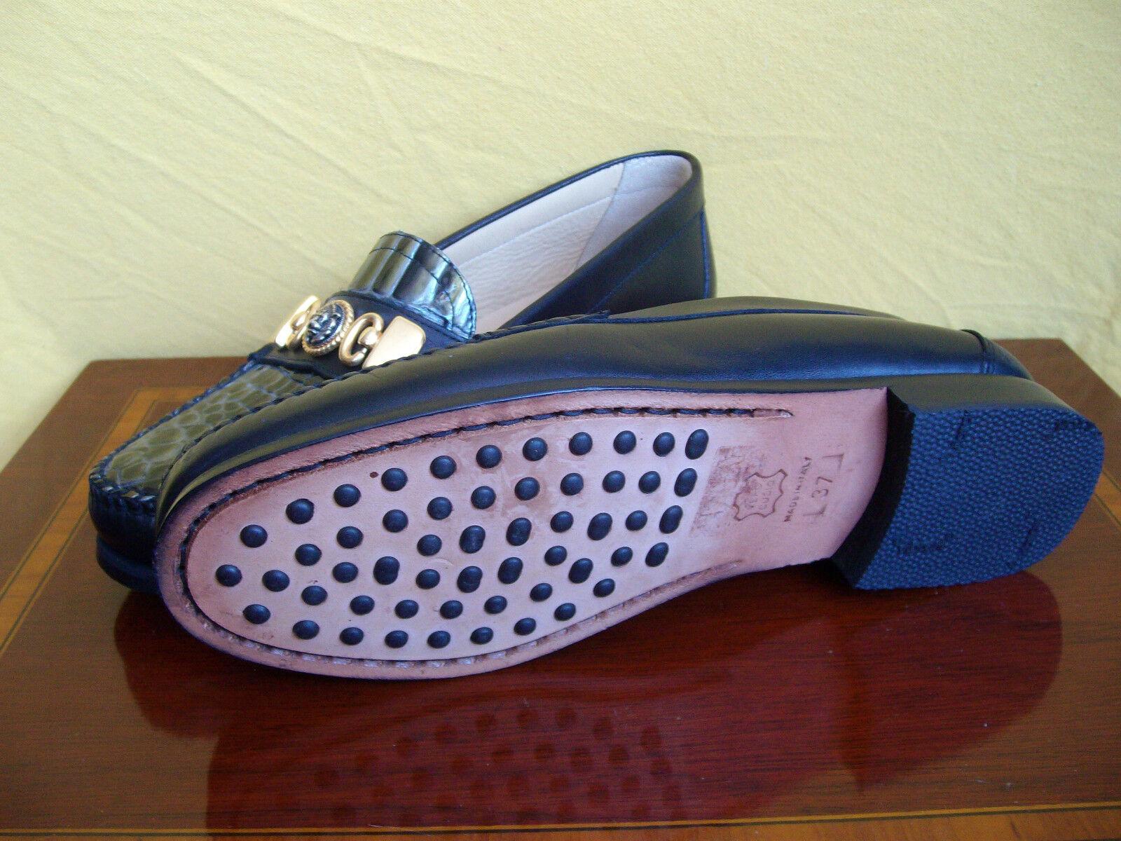 Damenschuhe - Halbschuhe 37 - Sauro - Größe 37 Halbschuhe - Leder schwarz mit Krokodiloptik f10a6c