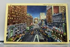 New York NY NYC Times Square Night Postcard Old Vintage Card View Standard Post