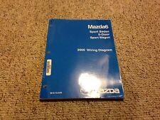2005 Mazda6 Mazda 6 Sedan & Wagon Factory Electrical Wiring Diagram Manual Book