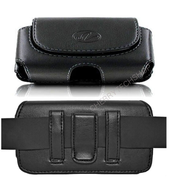 Leather Sideways Clip Case for Cell Phones COMPATIBLE WITH Otterbox Defender