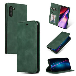 FOR-Samsung-Galaxy-S10-Plus-Note-10-FLIP-LEATHER-WALLET-Phone-Book-Case-Cover