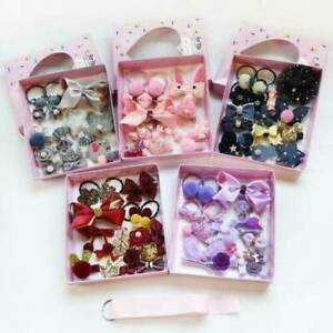 18Pcs-Kit-Baby-Girl-Hair-Clip-Bow-Flower-Mini-Barrettes-Party-Star-Kids-Hairpins