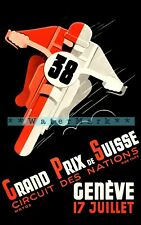 1938 ACF Grand Prix Vintage Style Auto Racing Poster 20x28