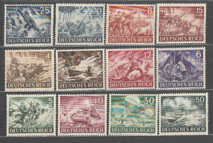 Alemania-Empire-Mail-1943-Yvert-748-59-MNH-Boats-And-Planes