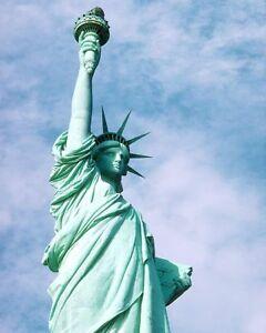 STATUE OF LIBERTY, Liberty ISLAND NEW YORK CITY 11x14 SILVER HALIDE PHOTO PRINT
