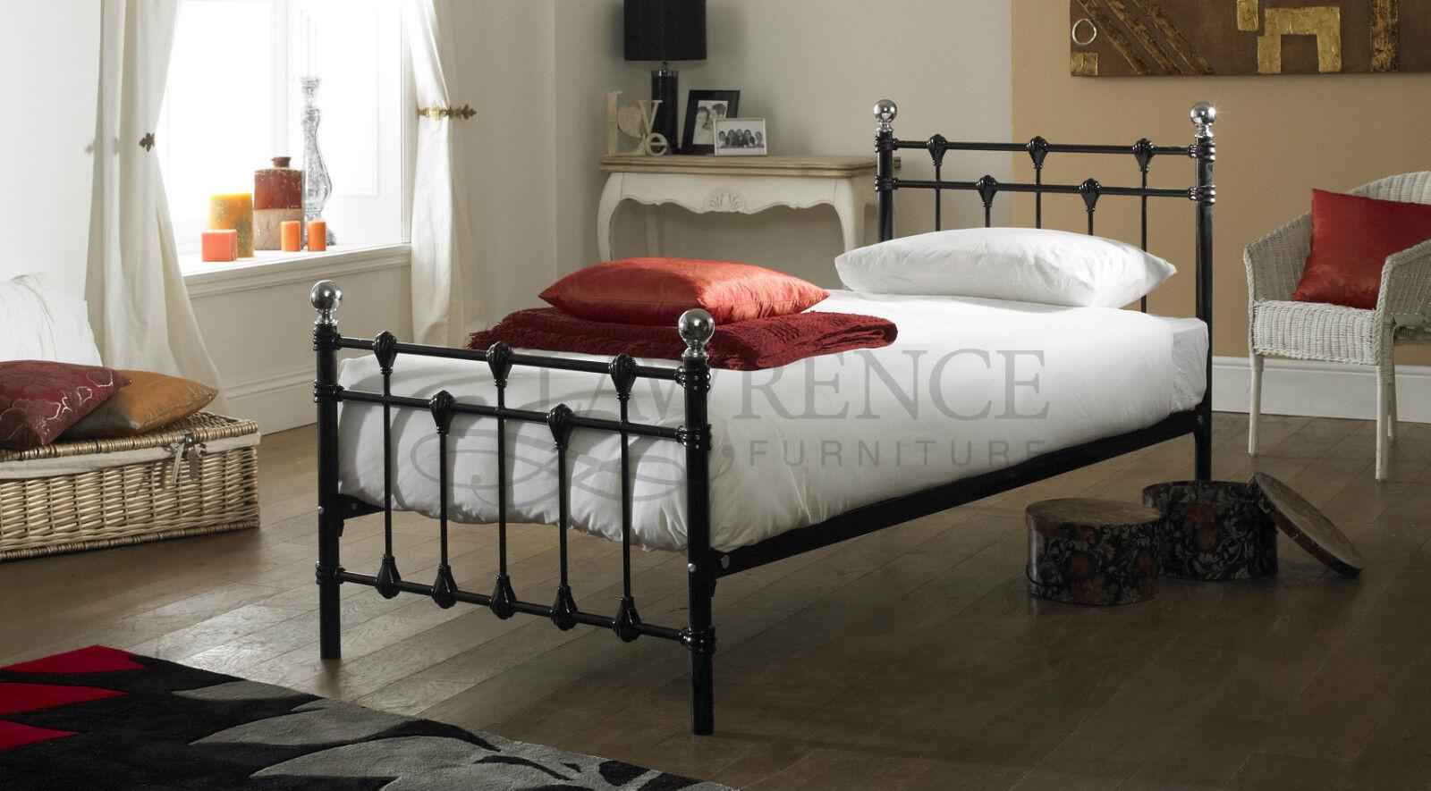 Oxford Single 3ft Black Metal Bed Frame Only Ebay