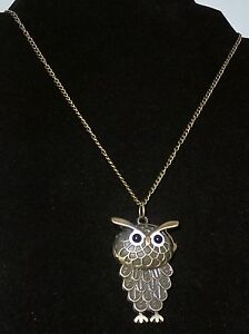 """Unique Detailed Bronze Owl Pendant Flip Open Watch Necklace With 32"""" Chain Attractive Appearance Jewelry & Watches Necklace Watches"""