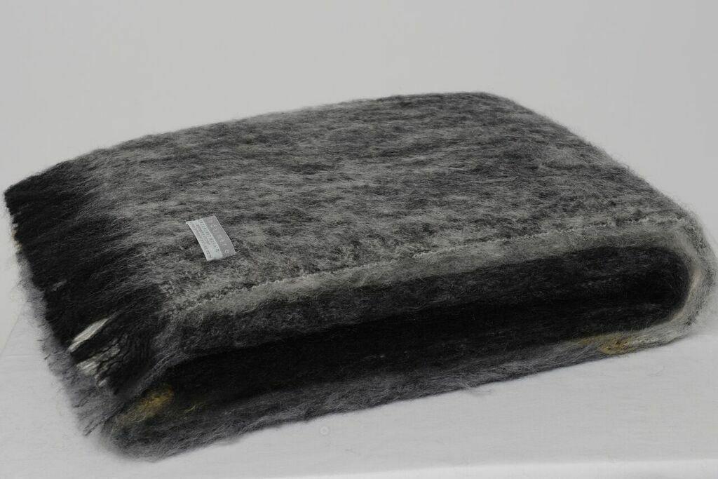 Masterweave Windermere Mohair Throw Rug Blanket in Arctic