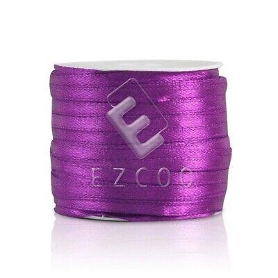 "50 Yards 1//8/""3mm Satin Ribbon Craft Bow Wedding Supply Wholesale Lt.Pink HC"