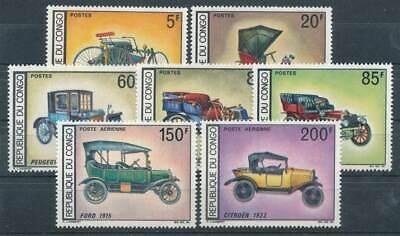 Kongo Braz Nr.154-160** Hist Autos Oldtimer Exquisite Traditionelle Stickkunst Frank 639929