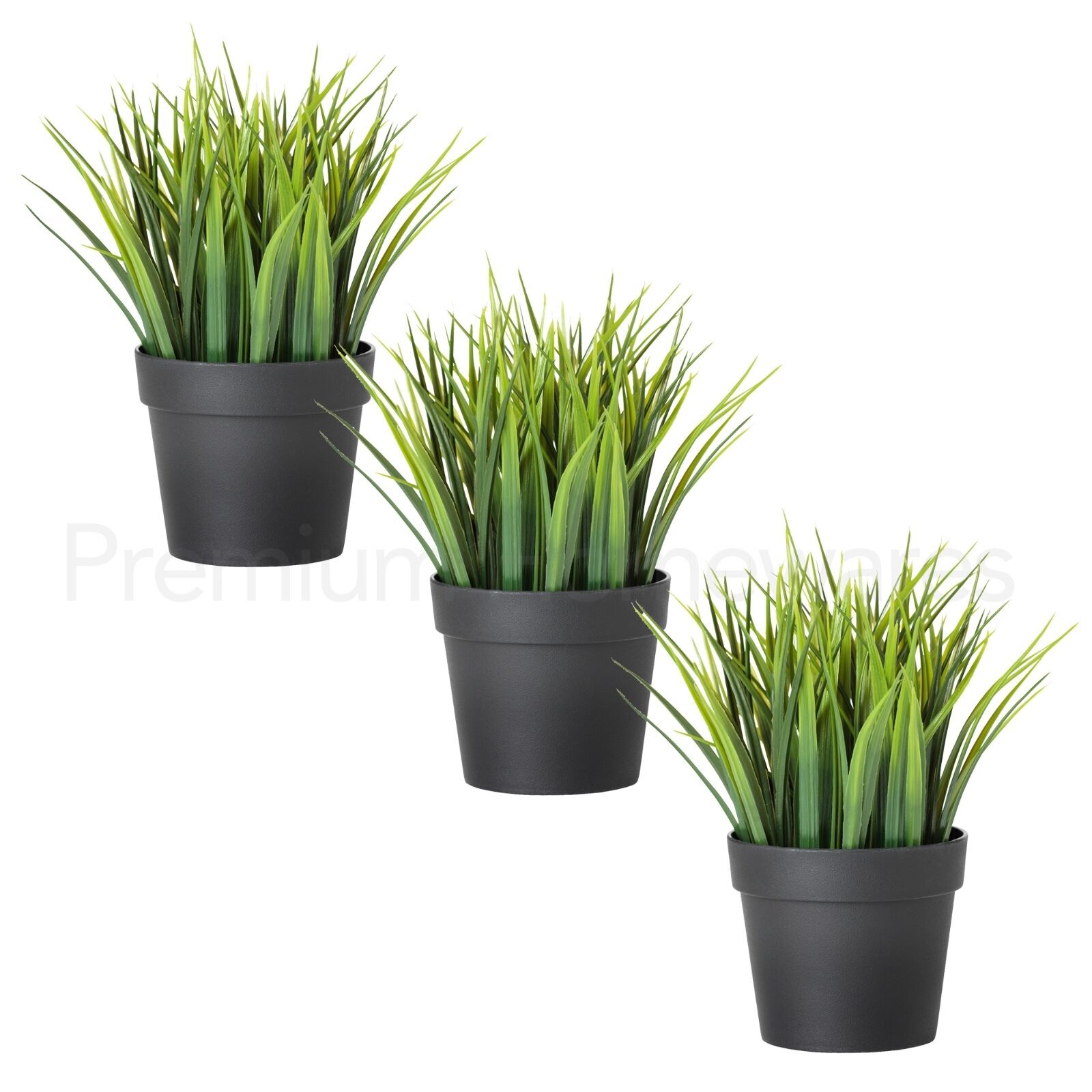 3 x ikea fejka artificial green grass plants in pots 20cm for Ikea plantes