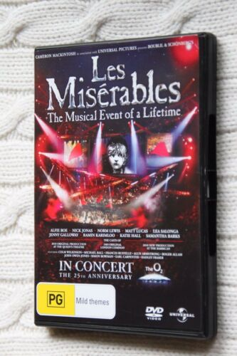 1 of 1 - Les Miserables - 25th Anniversary Concert (DVD), Like new, Free shipping