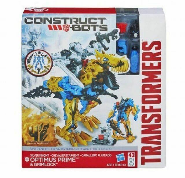 NIB Hasbro Construct-Bots Silver Knight Optimus Prime /& Grimlock Transformers