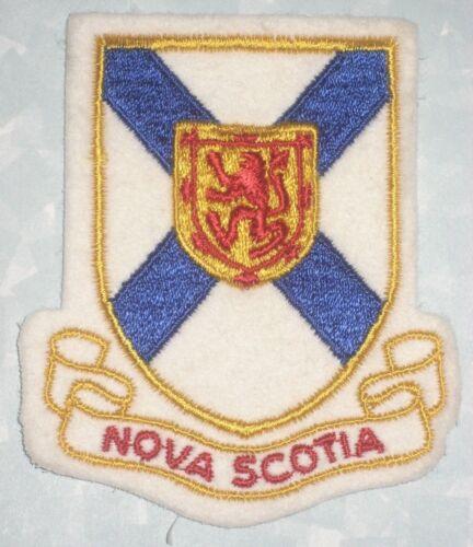 "Nova Scotia Patch felt patch Canada 3 1//8/"" x 3 5//8/"" vintage"