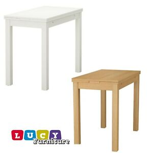 Details About Ikea Bjursta Extendable Table New White Or Oak Veneer