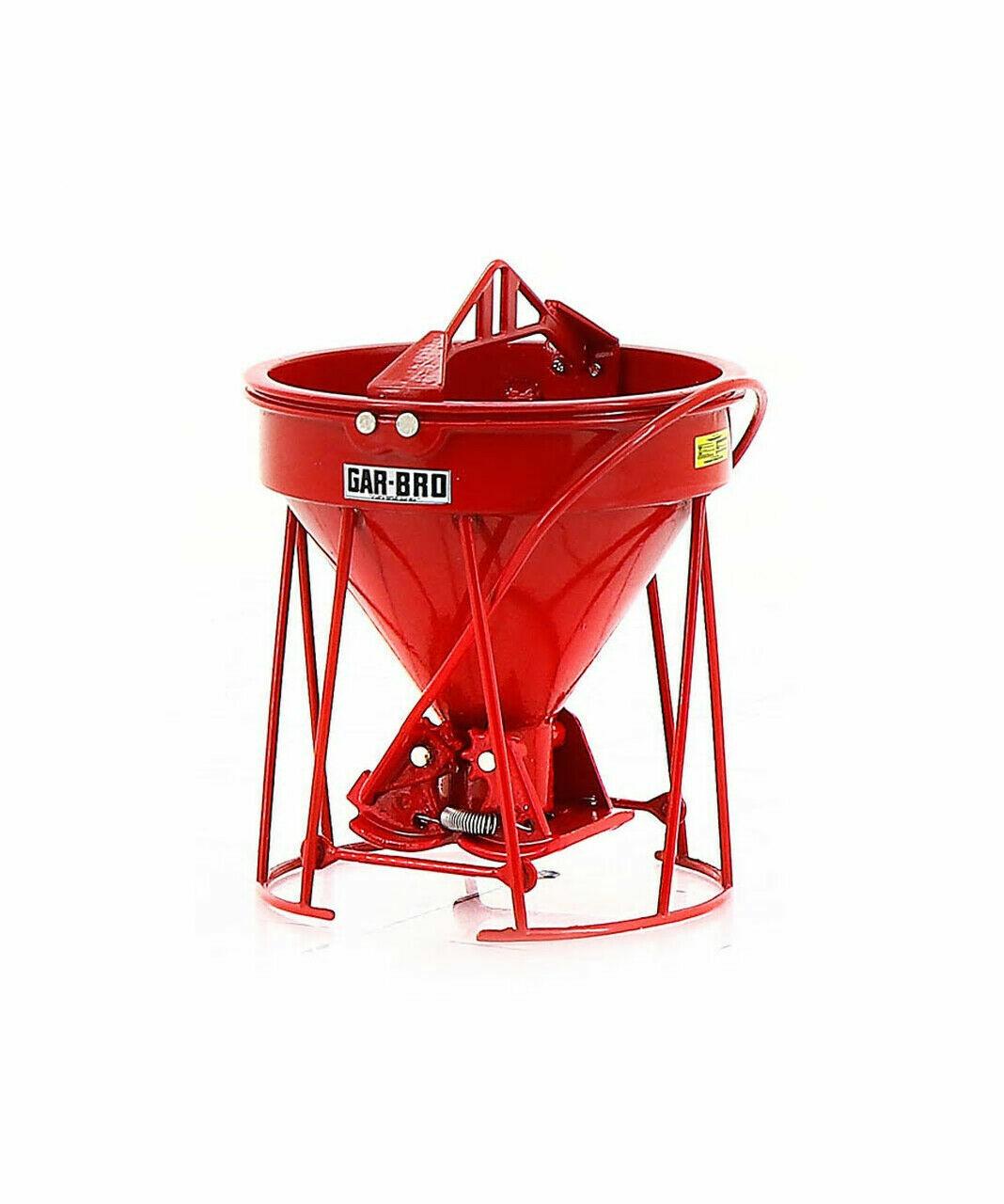 GAR-BRO  R  Series Lightweight Round Gate Concrete Bucket  rot  1 50  NEW