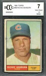 1961-topps-88-RICHIE-ASHBURN-chicago-cubs-BGS-BCCG-7