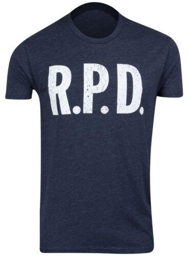 Capcom Mens Resident Evil Racoon Police Dept RPD T-Shirt Midnight Navy