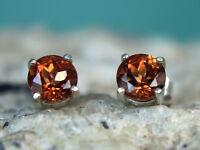 Andesine-labradorite - Rich Orange .925 Sterling Silver Stud Earrings 1.78ct