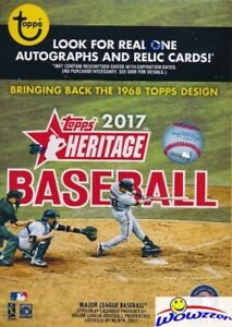 2017-Topps-Heritage-Baseball-EXCLUSIVE-Factory-Sealed-Blaster-Box-Loaded