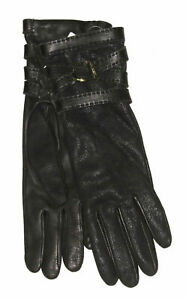 A-495-Ralph-Lauren-Collection-Purple-Label-Womens-Leather-Cashmere-Gloves-7-5