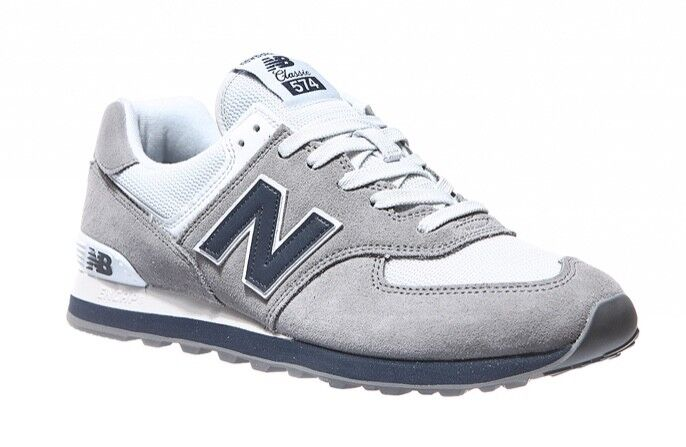 NEW BALANCE CLASSICS SNEAKERS TRADITIONNELS GREY W NAVY ML574ESD SHOES FOOTWEAR