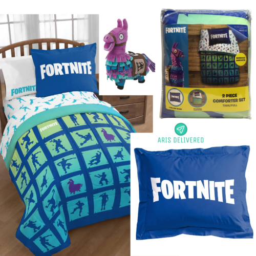 Fortnite Bedding Boogie 2 Piece Twin//Full Comforter and Sham Set