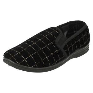 Mens Spot On Quality Slip on Slippers MS44