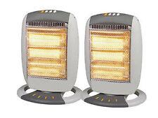 2 X Portátil Eléctrico Oscilante Calentador Halógeno 1200W 3 Ajuste De Calor Caliente Calor