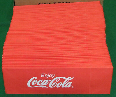 100 Coca Cola Jerk hat caps for vendor or diner. Bundle in a Box!