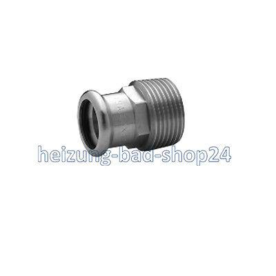8243g Kupferrohr Press Fitting f SANHA Rotguss Pressfitting Übergangsnippel