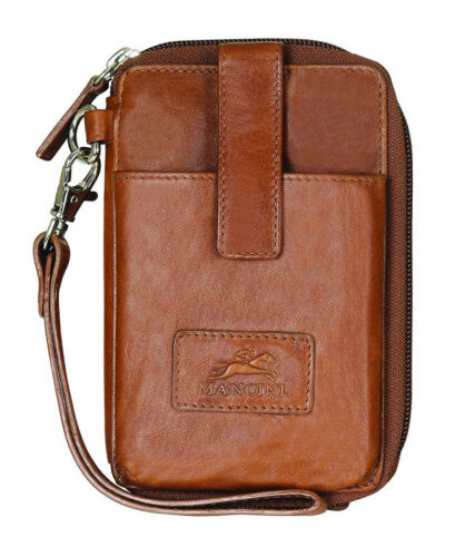 Mancini Casablanca RFID Cell Phone Wallet 8700044-Cognac