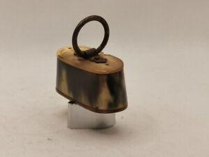 Tabatière corne fin XIXéme 5 cm