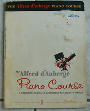 Alfred d'Auberge PIANO COURSE, Book 3, 1961 charming illustrations & great music